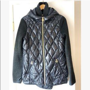 Michael Kors mixed media navy & grey down jacket